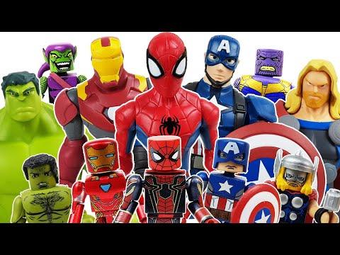 Avengers Minimates Go~! Iron Man! Captain America, Spider-Man, Thanos, Thor, Hulk!