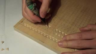 Геометрическая резьба по дереву. Урок 2 (geometric wood carving)