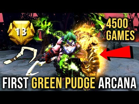 Levkan First GREEN EPIC Pudge Arcana - 4500+ Games LVL 13 Dota Plus