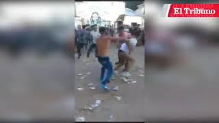 VIDEO: Brutal batalla campal en una fiesta de egresados universitarios