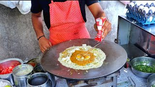 Surat's Most Famous Jumbo Triple Layer Delicious Egg Dishes   Egg Street Food   Indian Street Food