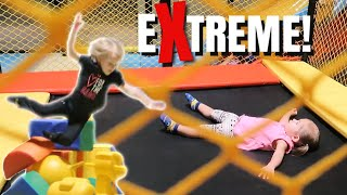 Kids Go Crazy At This Extreme Trampoline Park  Who Gets Hurt This Time