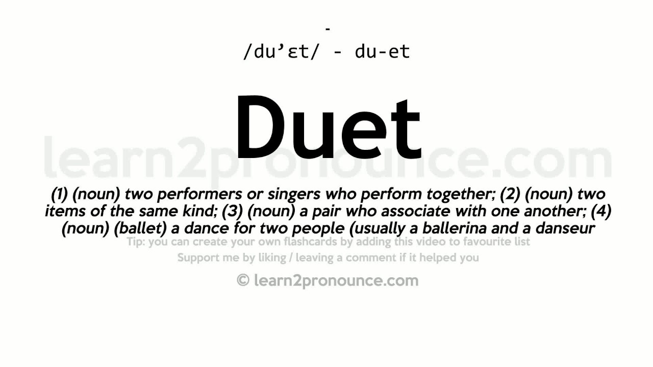 Nice Duet Pronunciation And Definition