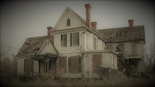 Abandoned 1800s Murder House with Everything left Behind Bloody Hand prints Upstairs, Night Explore.