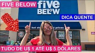 FIVE BELOW onde TUDO custa no MÁXIMO U$ 5 Dólares! COMPRAS em VIAGEM para ORLANDO nos ESTADOS UNIDOS