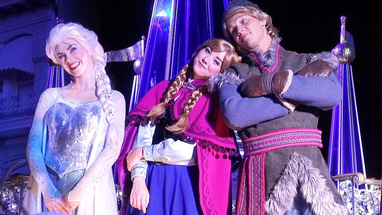 Frozen Kiss Goodnight At Magic Kingdom With Anna Elsa Kristoff And
