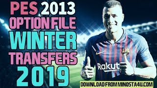 PES 2013 - Winter Transfers Option File 02/01/2019 - Download