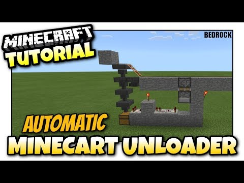 Minecraft - AUTOMATIC MINECART UNLOADER [ Redstone Tutorial ] MCPE / Xbox / Windows - Bedrock