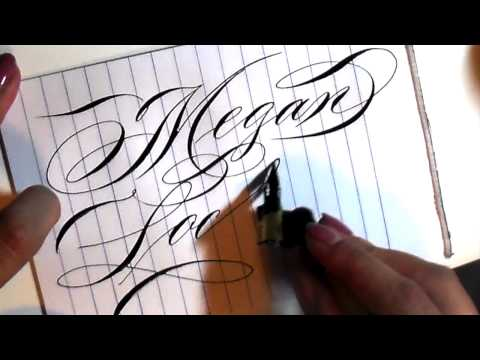 Writing names in Calligraphy 1