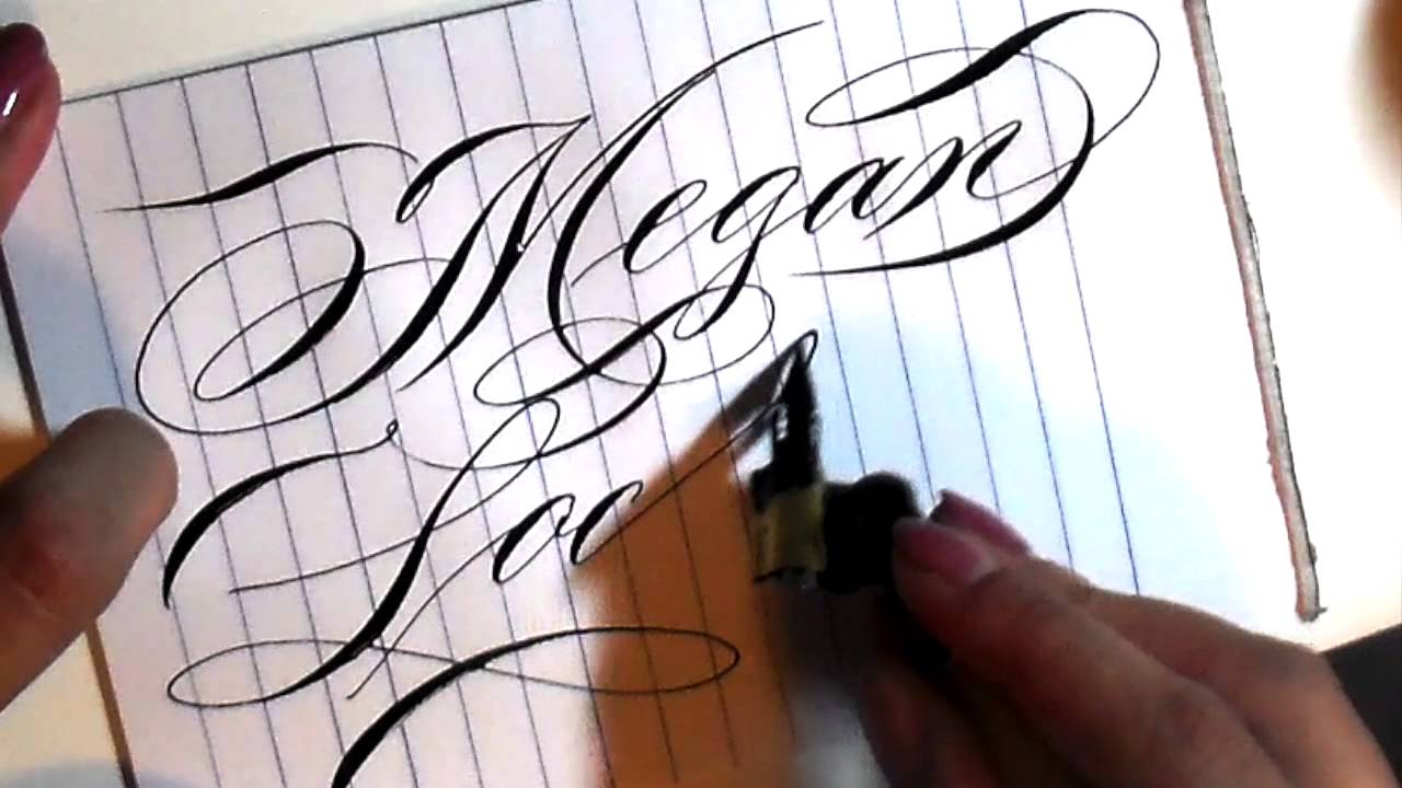 Writing names in calligraphy youtube