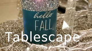 #falltablescapechallenge Fall Tablescape hosted by Kenya and Kimberly