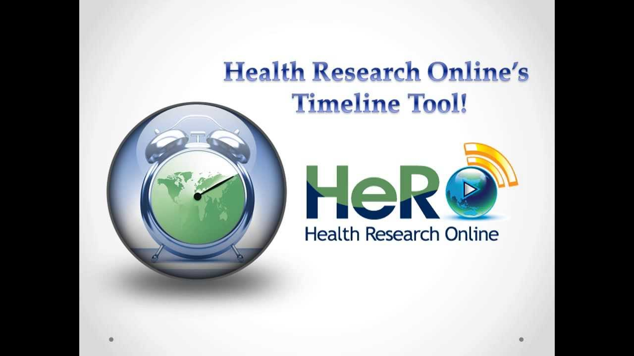 timeline tool health research online youtube