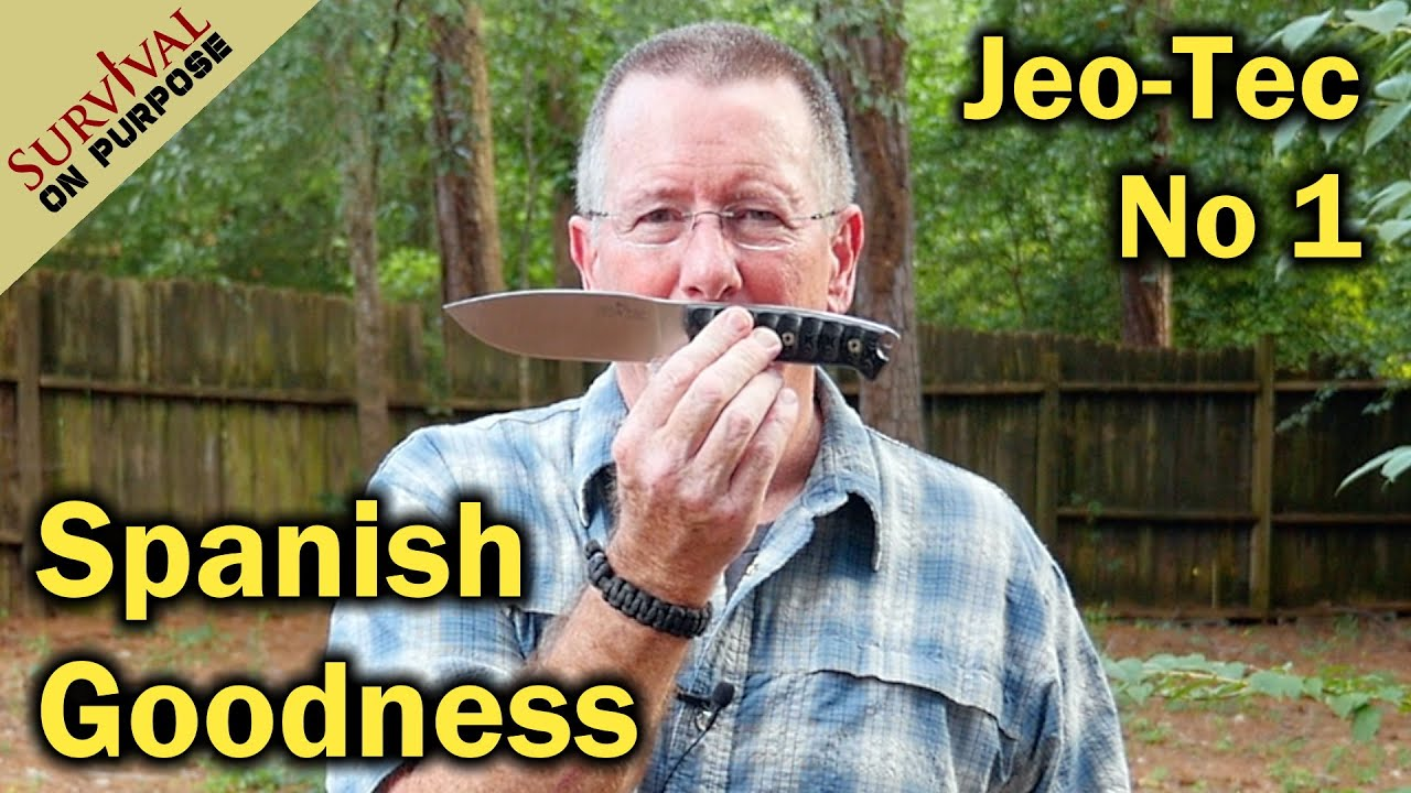Jeo Tec No 1  Buschcraft and Survival Knife From Spain