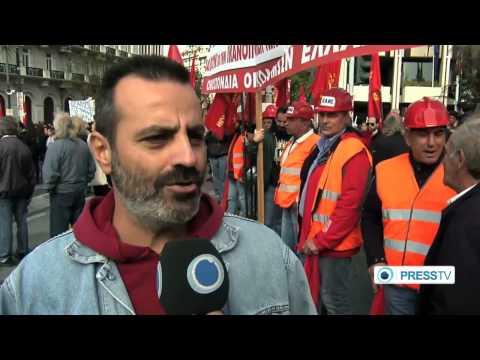 Greece rocked by fresh anti austerity demos amid high unemployment