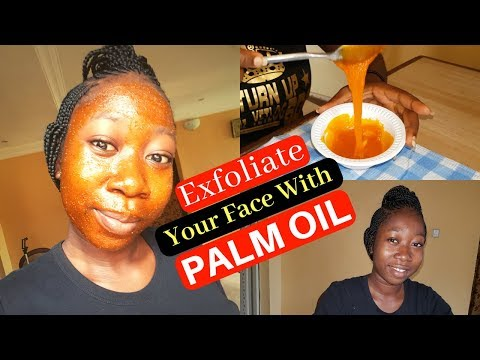 Natural Treatment For Exfoliating Your Face With Palm Oil   Home Remedy   DIY