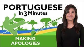 Baixar Learn  Brazilian Portuguese -  Brazilian Portuguese in 3 Minutes - Making Apologies
