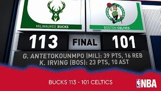 Milwaukee Bucks 113 - 101 Boston Celtics