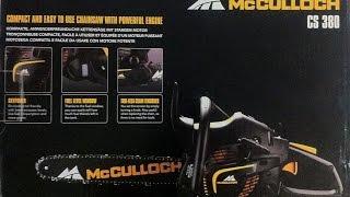 Обзор бензопилы McCULLOCH CS 380