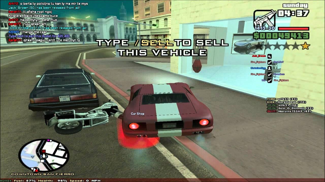 GTA SA - Where to buy, and sell vehicles on GTA SA [SF] - YouTube
