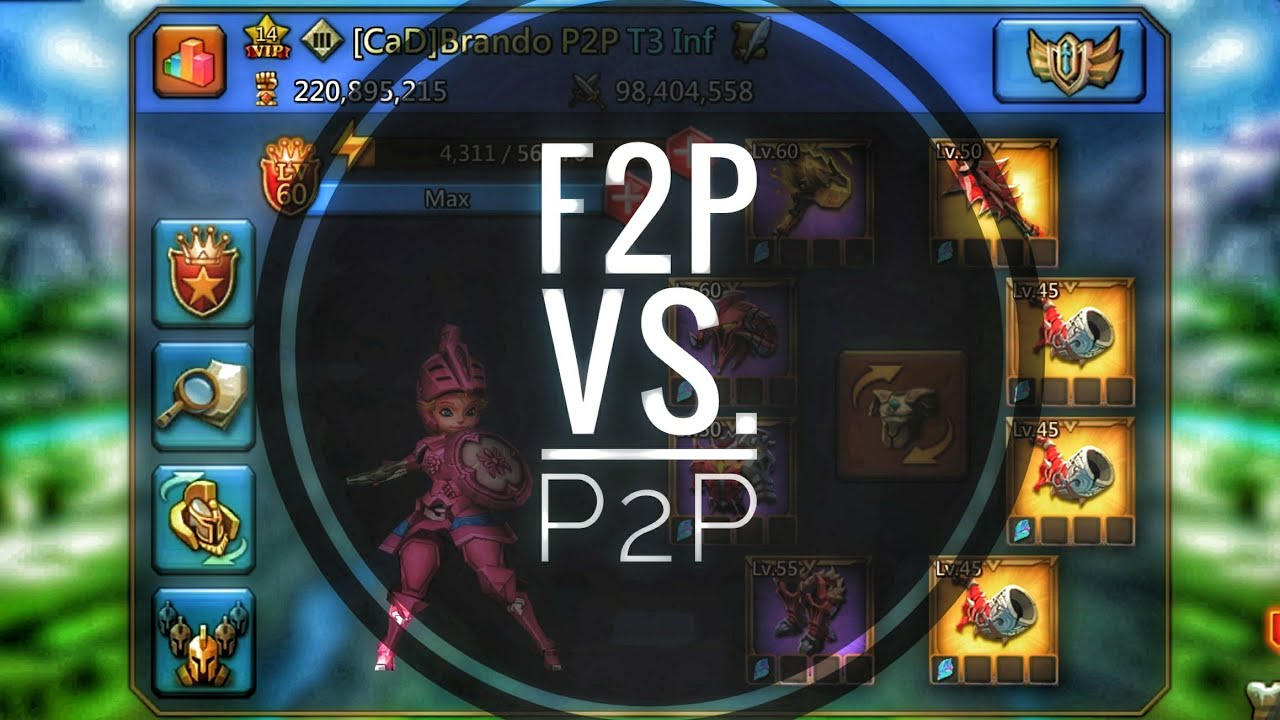 Lords Mobile - F2P vs P2P Round 1 Monster Hunting!