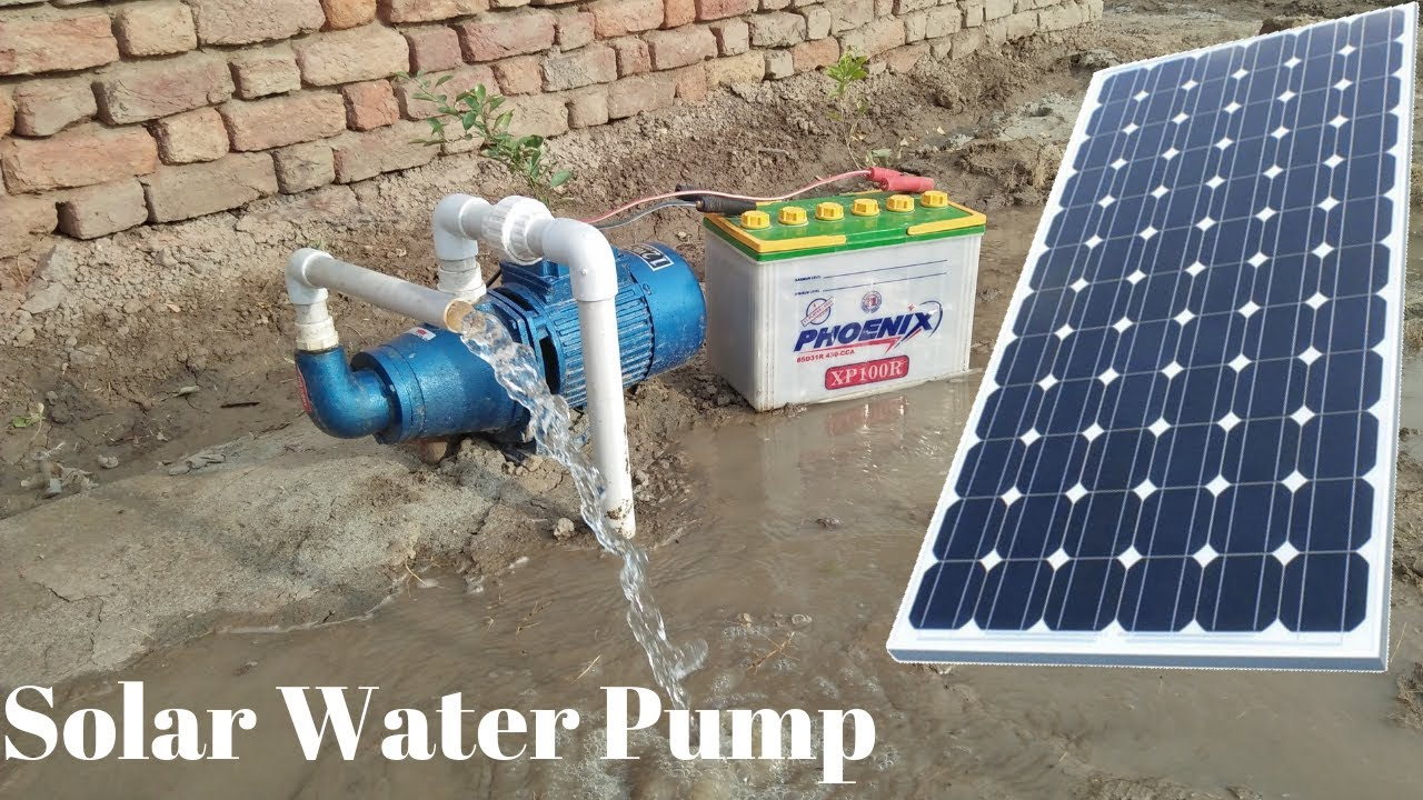 Install Solar Water Pump 12v Solar Pump With 150 Watt Solar Panel With Borewell Drill Complete Steps Youtube