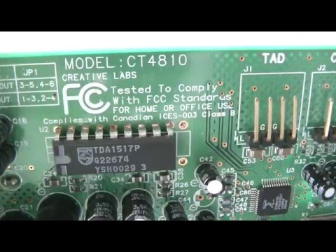 CREATIVE SOUND CARD MODEL CT4810 DRIVER DOWNLOAD (2019)