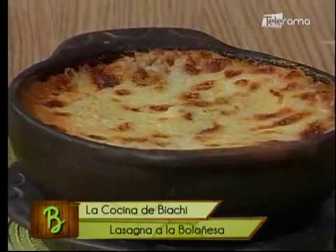 Lasagna a la boloñesa