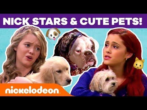 Nick Stars 🐶 Cute Pets! W/ Ariana Grande, JoJo Siwa & More! | #NickStarsIRL