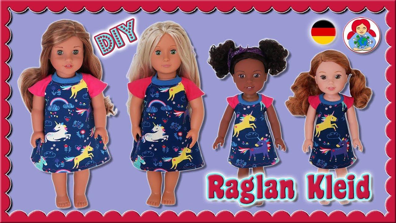 a52e1e3bcefd4 DIY | Raglan Kleid für 34 und 46 cm Puppen wie Wellie Wishers und American  Girl