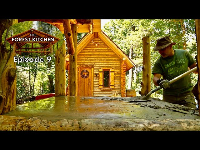 Table Made of Mud | The Forest Kitchen | Off Grid Log Cabin Build, Ep.9 S1