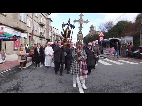 La primera romería del año en honor de San Amaro en Matamá