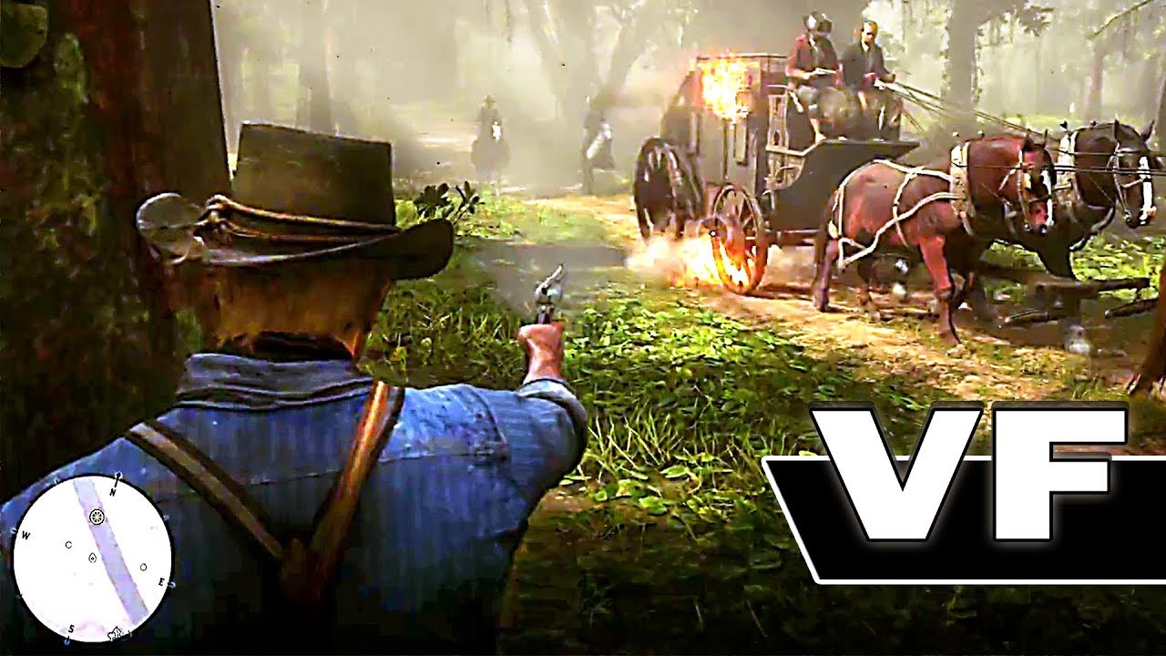 red dead redemption 2 nouvelle bande annonce de gameplay vf 2018 ps4 xbox one youtube. Black Bedroom Furniture Sets. Home Design Ideas