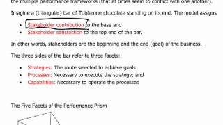 ACCA P5 - 10 Performance evaluation models