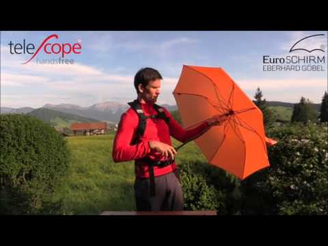 Euroschirm Light Trek Umbrella Adorable EuroSCHIRM Telescope Hands Free Umbrella Campmor YouTube