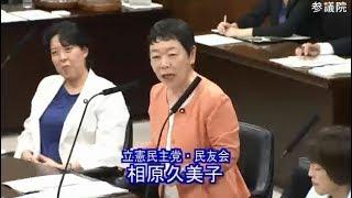 相原 久美子(立憲民主党・民友会) 内閣委員会 参議院 2018 06 28
