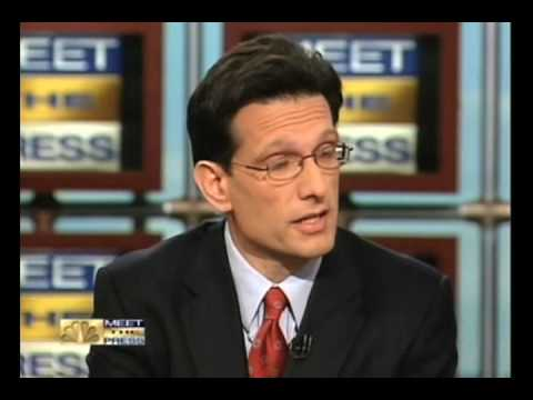 """Rep. Cantor Says The GOP Wants """"More People Uninsured"""""""