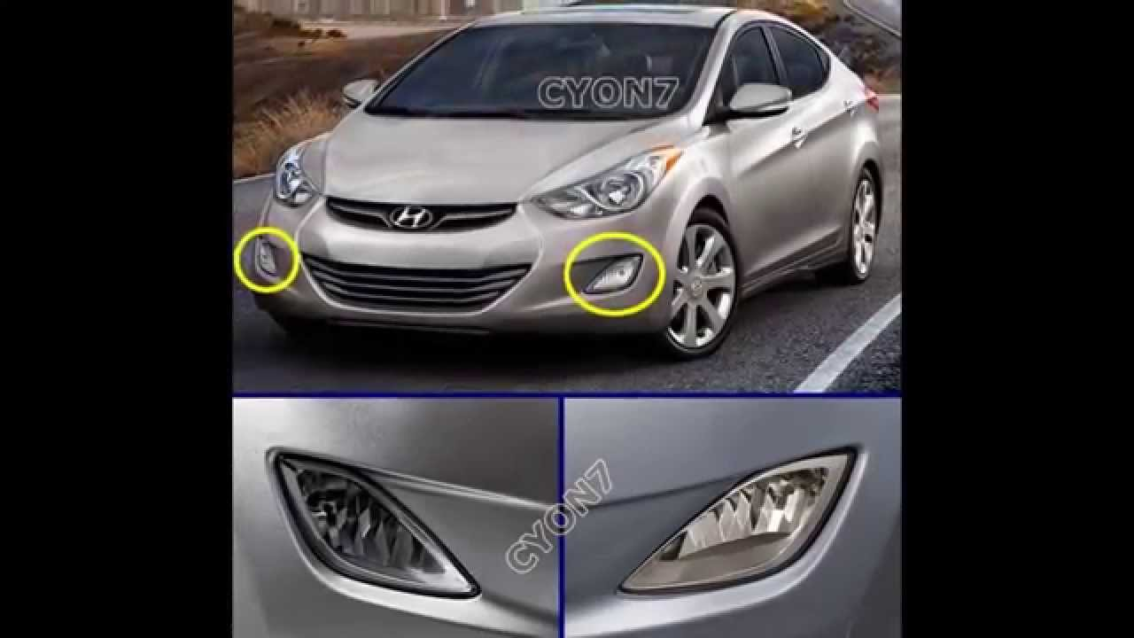 small resolution of 2012 2013 hyundai elantra fog light lamp complete kit wiring harness mf switch youtube