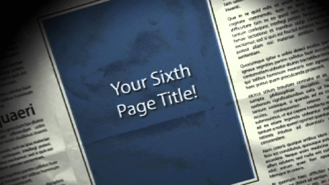 Newspaper Template After Effects Geccetackletartsco - After effects news template