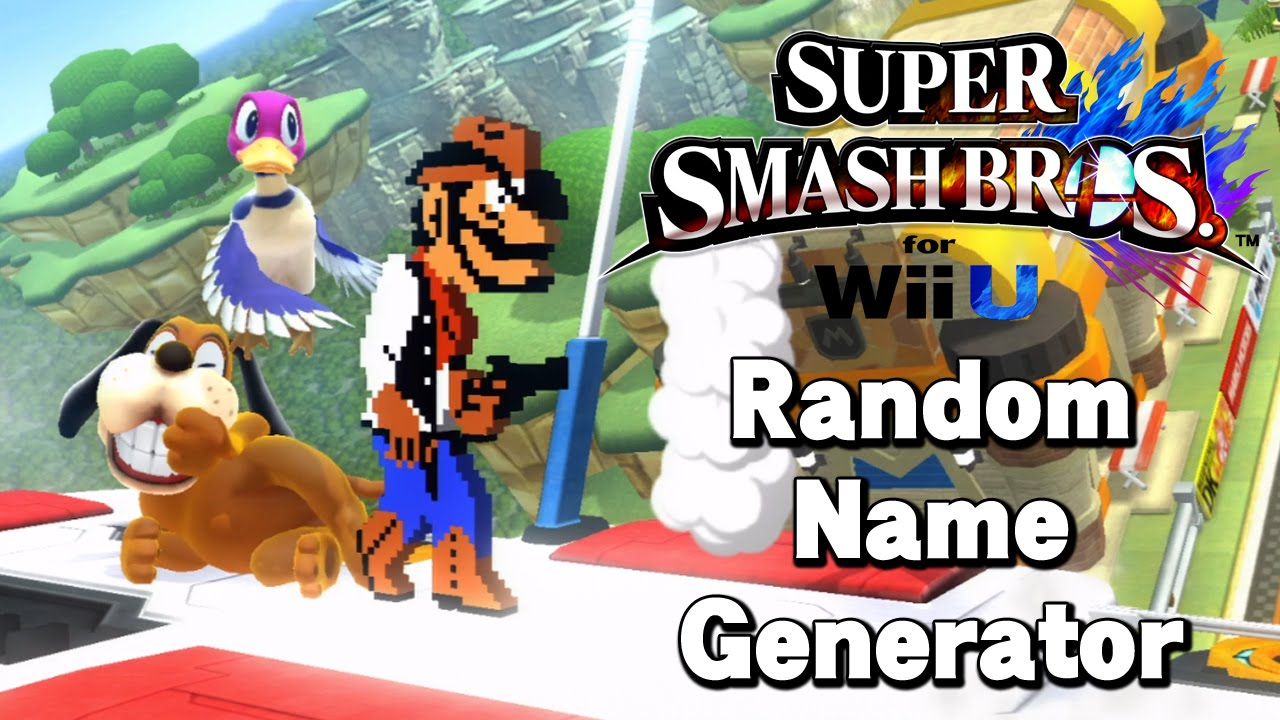 Random Name Generator - Super Smash Bros Wii U