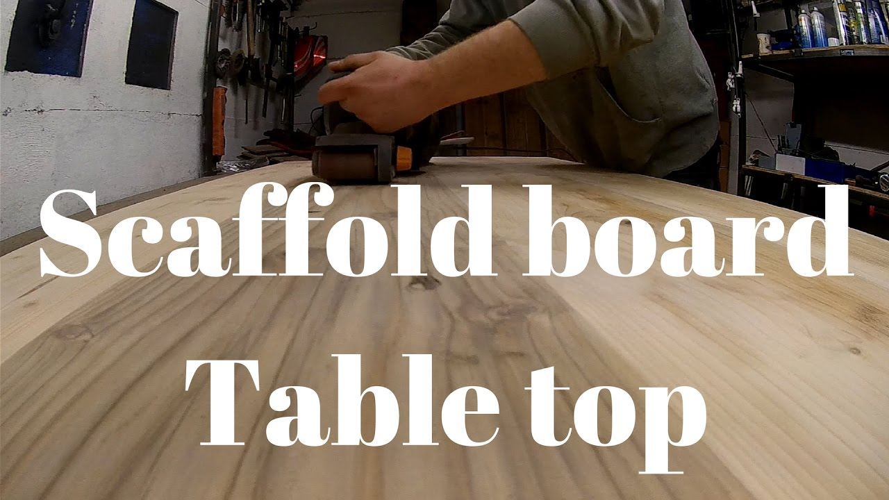 Upcycle Reclamined Scaffold Board Table Top Youtube