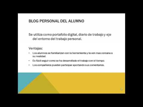Video Tutorial: aplicaciones de los blog en la educación