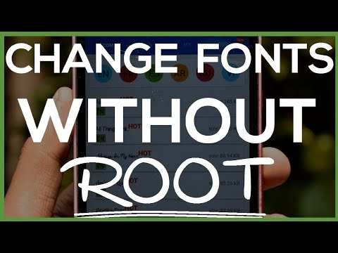 How To Change Font Style Without Root?