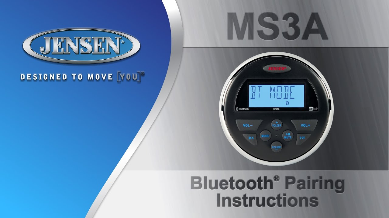 Jensen marine ms3a bluetooth pairing instructions youtube sciox Choice Image