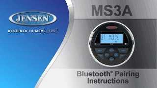 JENSEN® Marine | MS3A Bluetooth Pairing Instructions