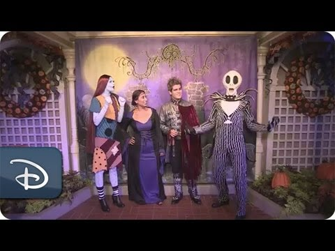 Jack Skellington & Sally at Mickey's Not-So-Scary Halloween Party