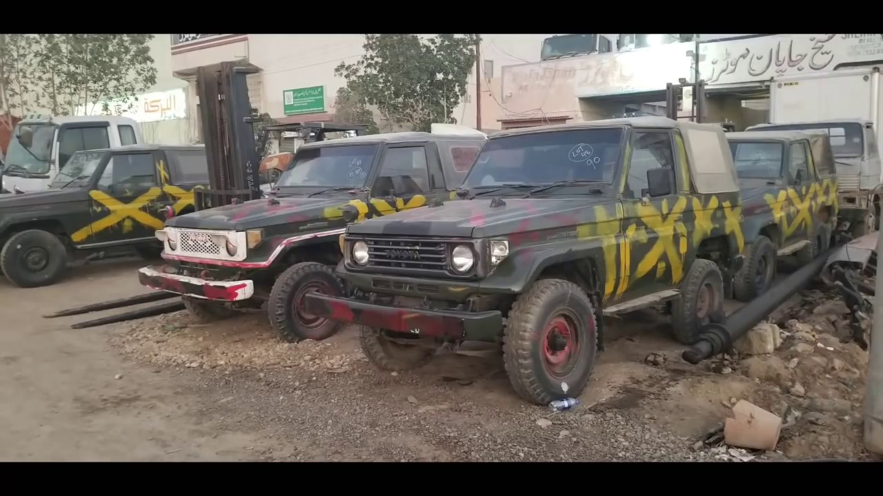 Army Auction   Toyota Land Cruiser RKR   For Sale in Karachi
