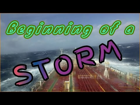 Merchant marine , Beginning of a storm
