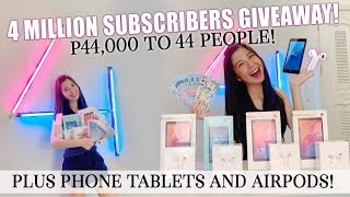 4 MILLION GIVEAWAY PLUS VIDEO CALL WITH FANS!! (44,000 to 44 people + PHONE TABLETS and AIRPOD!)