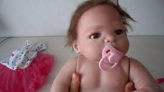 Обложка на видео о Распаковка куклы реборн. Силиконовая девочка.