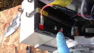 how to replace stairlifts batteries on acorn superglide 120
